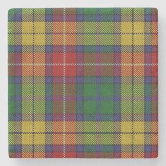 Old Scots Tavern Clan Buchanan Tartan Stone Coaster