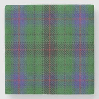 Old Scots Tavern Clan Davidson Tartan Stone Coaster