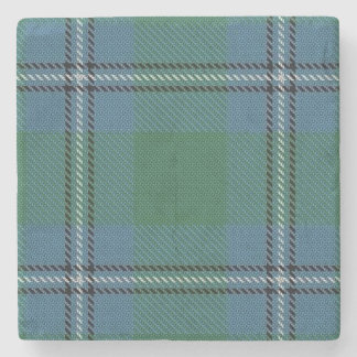 Old Scots Tavern Clan Irvine Irwin Tartan Stone Coaster
