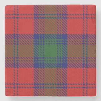 Old Scots Tavern Clan Lindsay Lindsey Tartan Stone Coaster