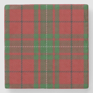 Old Scots Tavern Clan MacAulay Tartan Stone Coaster