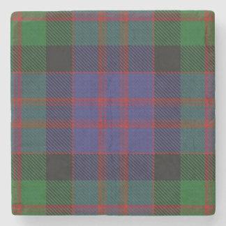 Old Scots Tavern Clan MacDonald Donald Tartan Stone Coaster