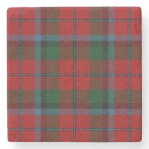 Old Scots Tavern Clan MacNachtan Tartan Stone Coaster