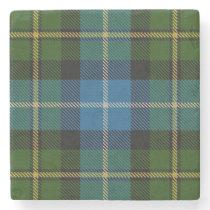 Old Scots Tavern Clan MacNeil Tartan Stone Coaster