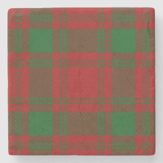 Old Scots Tavern Clan MacQuarrie Tartan Stone Coaster