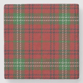Old Scots Tavern Clan Morrison Tartan Stone Coaster