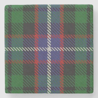 Old Scots Tavern Clan Russell Tartan Stone Coaster