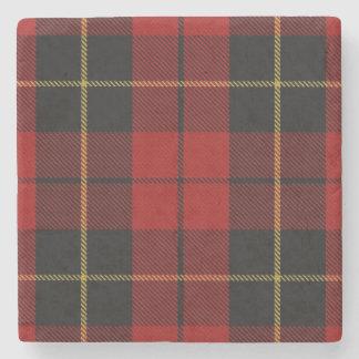 Old Scots Tavern Clan Wallace Tartan Stone Coaster