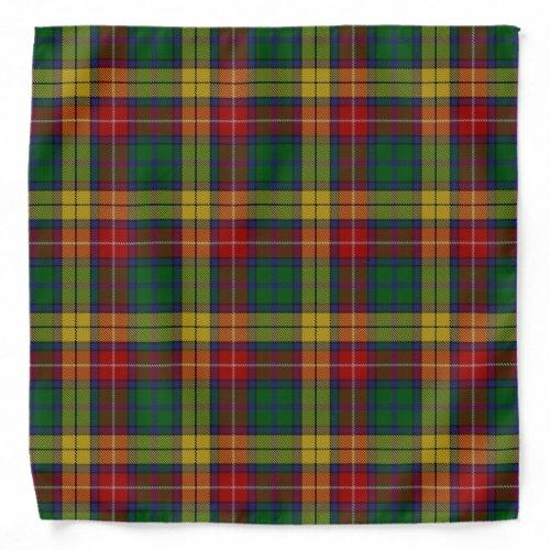 Old Scotsman Clan Buchanan Tartan Plaid Bandana