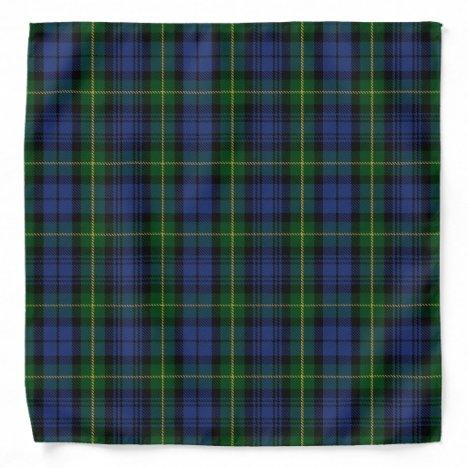 Old Scotsman Clan Gordon Tartan Plaid Bandana