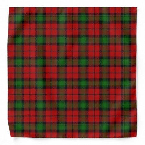 Old Scotsman Clan Kerr Tartan Plaid Bandana