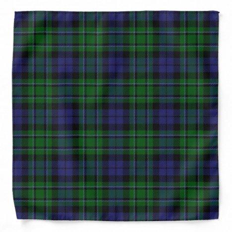 Old Scotsman Clan MacCallum Tartan Plaid Bandana