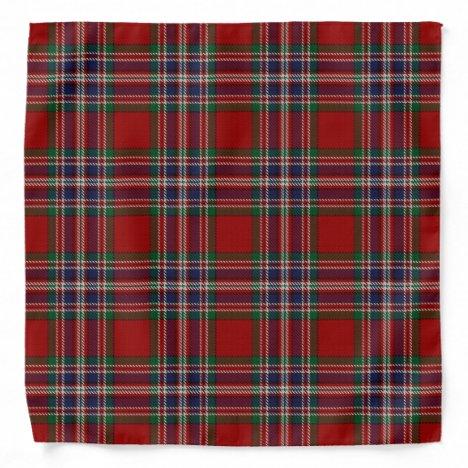 Old Scotsman Clan MacFarlane Tartan Plaid Bandana