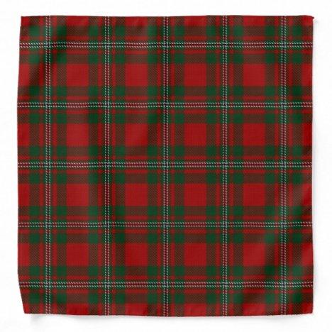 Old Scotsman Clan MacGregor Gregor Tartan Plaid Bandana