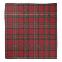 Old Scotsman Clan Stewart Royal Red Tartan Plaid Bandana