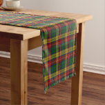 Old Scottish Clan Buchanan Tartan Plaid Short Table Runner