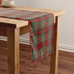 Old Scottish Clan Chattan Tartan Plaid Short Table Runner