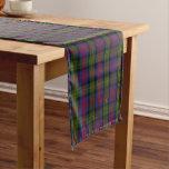 Old Scottish Clan Logan Tartan Plaid Short Table Runner