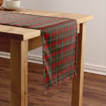 Old Scottish Clan MacGregor Gregor Tartan Plaid Short Table Runner