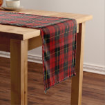 Old Scottish Clan Wallace Tartan Plaid Short Table Runner
