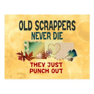 Old Scrappers Never Die Postcard