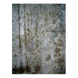 Old Scratched Metal Texture Postcard