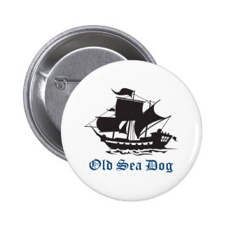 OLD SEA DOG PINBACK BUTTONS