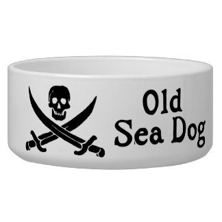 Old Sea Dog Large Pet Bowl