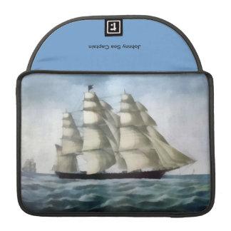 Old Sea Ship Digital Painting Laptop Sleeve