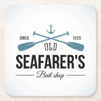 Old Seafarers Bait Shop Square Paper Coaster