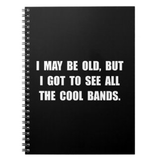 Old See Cool Bands Spiral Notebook