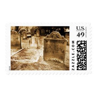 Old Sepia Gravestones Postage