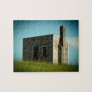 old settlers cabin hut shack aotearoa new zealand jigsaw puzzle