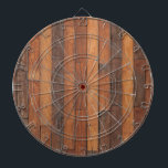 "Old Shabby Wood Flooring Dart Board<br><div class=""desc"">A dartboard with a photograph of old shabby wood flooring.</div>"