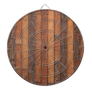 Old Shabby Wood Flooring Dart Board