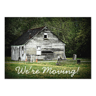 Old Shack Falling Apart Junky House MOVING Card