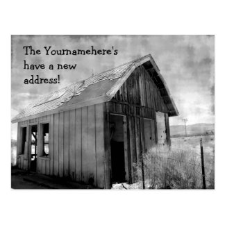 Old shack new address postcards