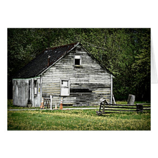 Old Shack of a Wooden House Card