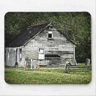 Old Shack of a Wooden House Mouse Pad