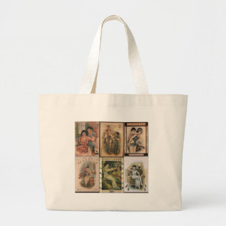 Old Shanghai Poster Women Large Tote Bag