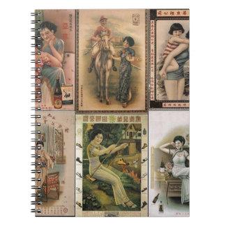 Old Shanghai Poster Women Notebook