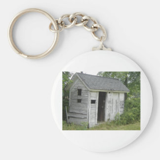old shed basic round button keychain