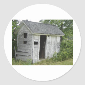 old shed classic round sticker