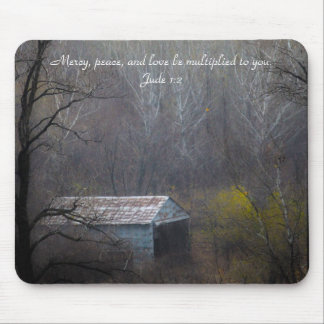 Old Shed in the Woods Mouse Pad