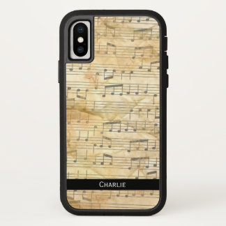 Old Sheet Music Background. Personalise. iPhone X Case