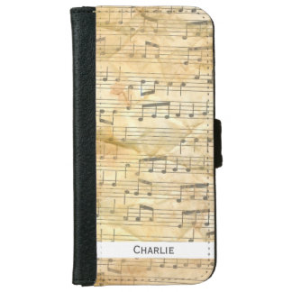 Old Sheet Music Background. Personalise. Wallet Phone Case For iPhone 6/6s