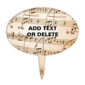 Old Sheet Music Cake Topper