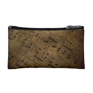 Old sheet music, classic musical notes cosmetic bags