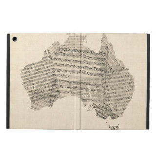 Old Sheet Music Map of Australia Map Case For iPad Air