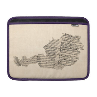 Old Sheet Music Map of Austria Map MacBook Air Sleeves